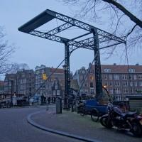 Beautiful bridge on the Brouwersgracht