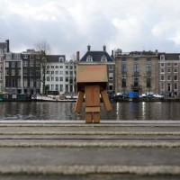 Considering jumping into the Amstel... then did it.