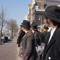 A group of Carpenters on their Wanderjahre in Amsterdam