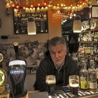 Andrew Eddy playing barman at my bar