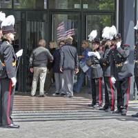 Honor guard at Stopera
