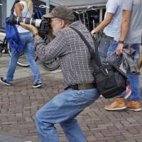 A local photographer capturing a special shot